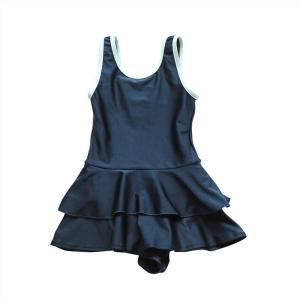スクール水着 女の子 セパレート ワンピース 練習用 学校用 水着 キッズ 子供 日焼け防止 UVカット スカート 名札 スイムウェア ジュニア|premium-interior|25
