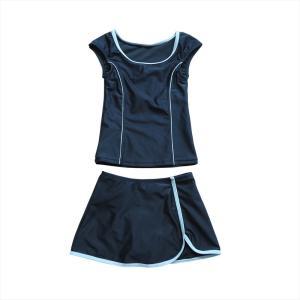 スクール水着 女の子 セパレート ワンピース 練習用 学校用 水着 キッズ 子供 日焼け防止 UVカット スカート 名札 スイムウェア ジュニア|premium-interior|26