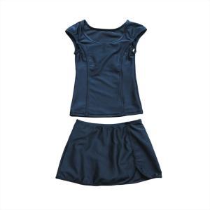 スクール水着 女の子 セパレート ワンピース 練習用 学校用 水着 キッズ 子供 日焼け防止 UVカット スカート 名札 スイムウェア ジュニア|premium-interior|27