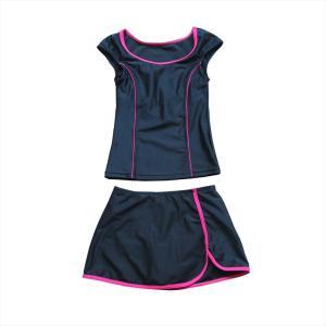 スクール水着 女の子 セパレート ワンピース 練習用 学校用 水着 キッズ 子供 日焼け防止 UVカット スカート 名札 スイムウェア ジュニア|premium-interior|28