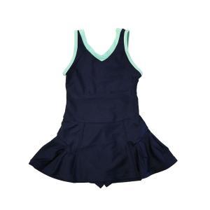 スクール水着 女の子 セパレート ワンピース 練習用 学校用 水着 キッズ 子供 日焼け防止 UVカット スカート 名札 スイムウェア ジュニア|premium-interior|30