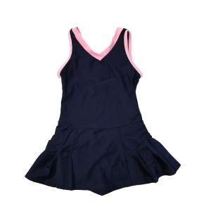 スクール水着 女の子 セパレート ワンピース 練習用 学校用 水着 キッズ 子供 日焼け防止 UVカット スカート 名札 スイムウェア ジュニア|premium-interior|32