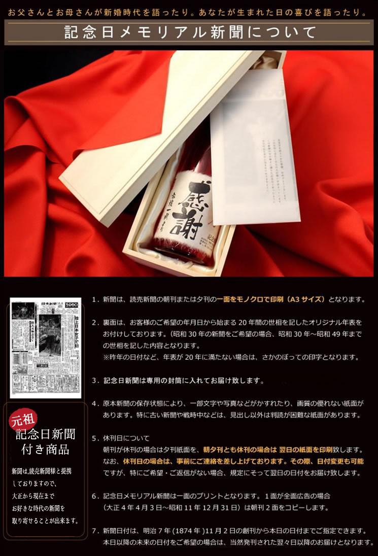 記念日新聞・赤風呂敷