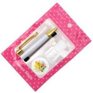 ハーバリウムボールペン 手作り ペン キット 花材 ミネラルオイル 予備の替え芯付き|princess-factory|13