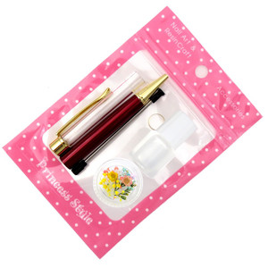 ハーバリウムボールペン 手作り ペン キット 花材 ミネラルオイル 予備の替え芯付き|princess-factory|19