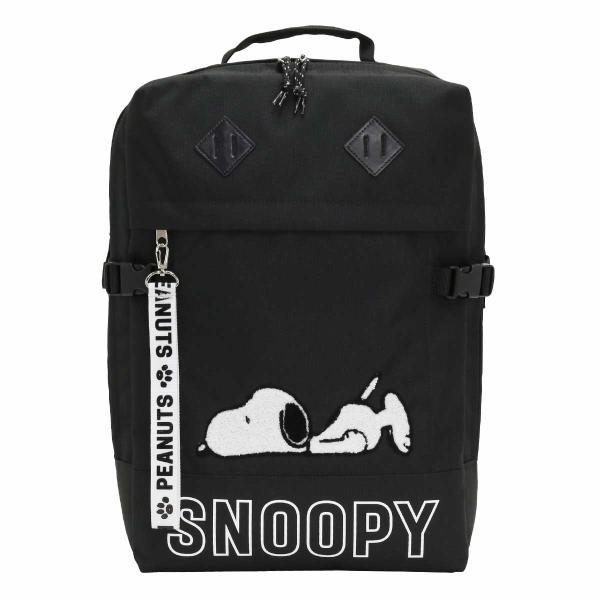 SNOOPY スヌーピー リュックサック デイパック リュック リュックサック バックパック ボックスリュック B4 ブラック