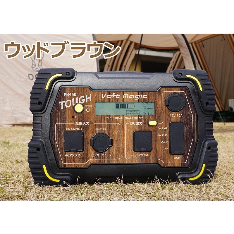 限定! ポータブル電源 PB450タフバッグセット(レビューでバッグ代0円) 車中泊 キャンプ  停電対策 大容量 バッテリー ボルトマジック ワイルド電源|pro-tecta-shop|24