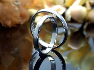 甲丸ポリッシュ結婚指輪
