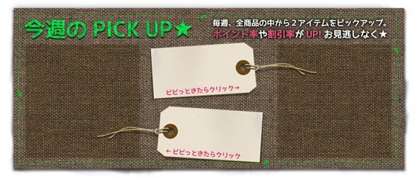 【お得】週替わりおすすめ商品2選!