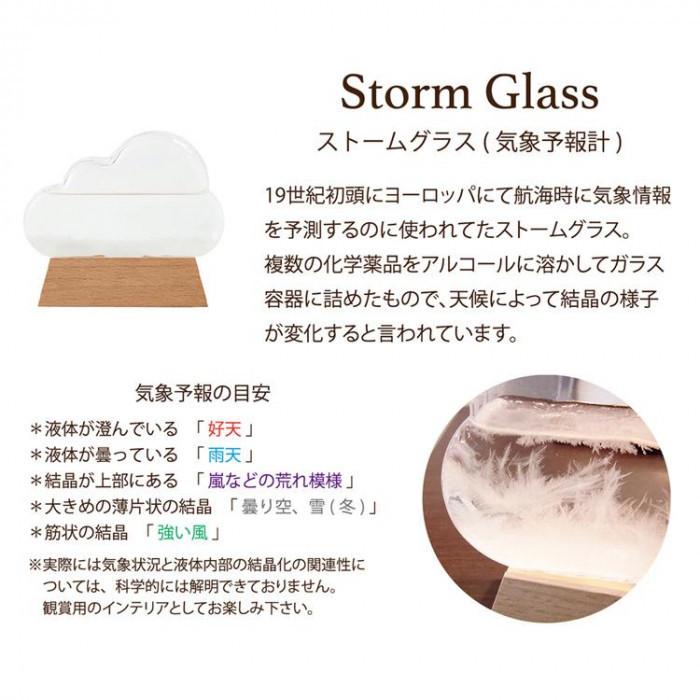 Storm Glass ストームグラス クラウド(気象予報計)
