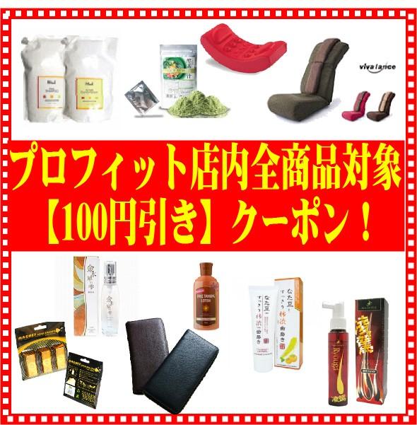 【100円OFF】プロフィット店内全商品対象値引きクーポン♪