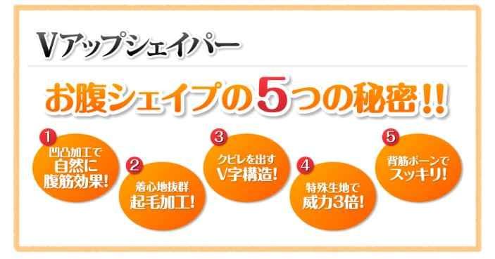Vアップシェイパー お腹シェイプの5つの秘密!!