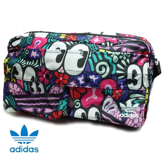 アディダス オリジナルス レディース ウエストバッグ 総柄 WAIST BAG TREFOIL adidas Originals DW6720