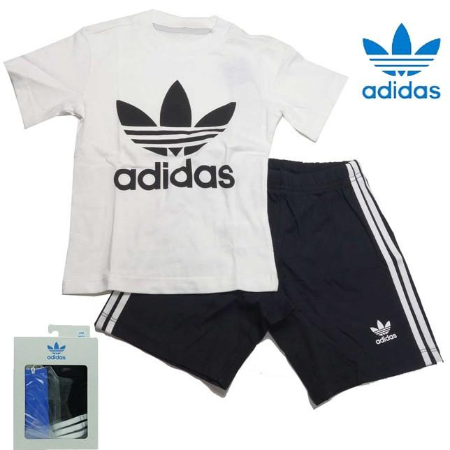 共通値:アディダス オリジナルス トレフォイル 半袖Tシャツ&ショーツ 上下セット ベビー キッズ adidas GDH34