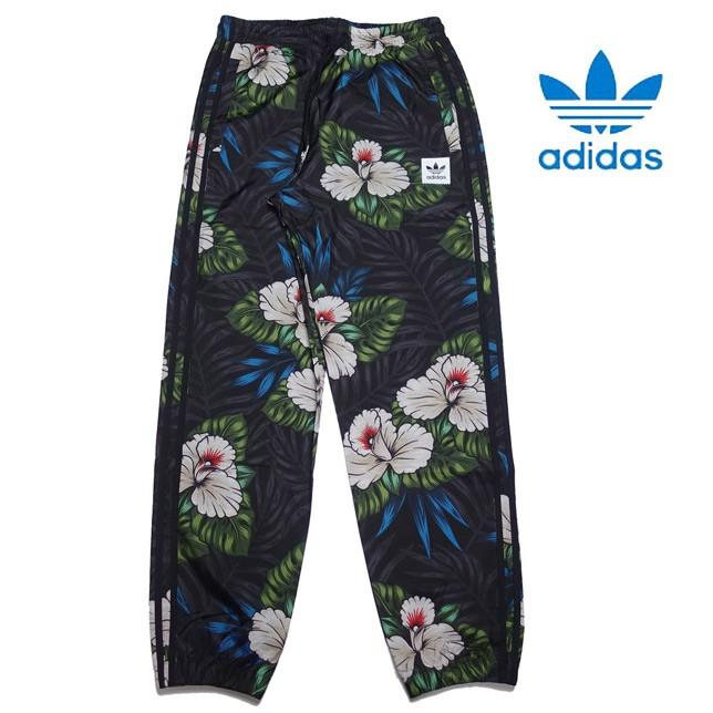 共通値:adidas アディダス オリジナルス メンズ ウィンドパンツ ナイロンパンツ 花柄 総柄 GDP57 EC7310