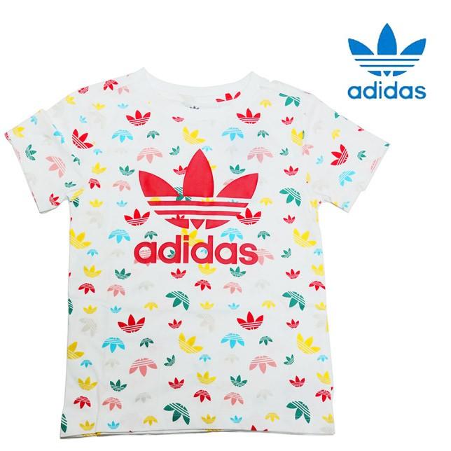 アディダス オリジナルス トレフォイル Tシャツ キッズ マルチカラー adidas KIDS TREFOIL SHORT TEE GZP30