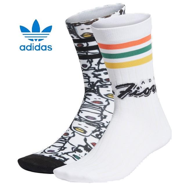 長崎県佐世保市adidas アディダス レディースオリジナルス FIORUCCI フィオルッチ ミッドカットクルーソックス 2足組 コラボソックス GWB97