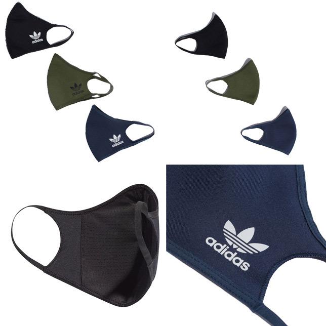 長崎県佐世保市adidas アディダス フェイスカバー 3枚組 FACE COVERS 3-PACK マスク M/Lサイズ