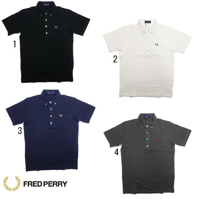 フレッドペリー メンズ ボタンダウン ポロシャツ F1542 ボタン糸 配色 FRED PERRY 2019