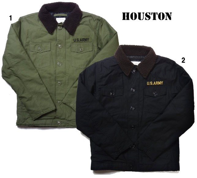 HOUSTON ヒューストン  ミリタリーボア シャツ ジャケット ボアジャケット 50272