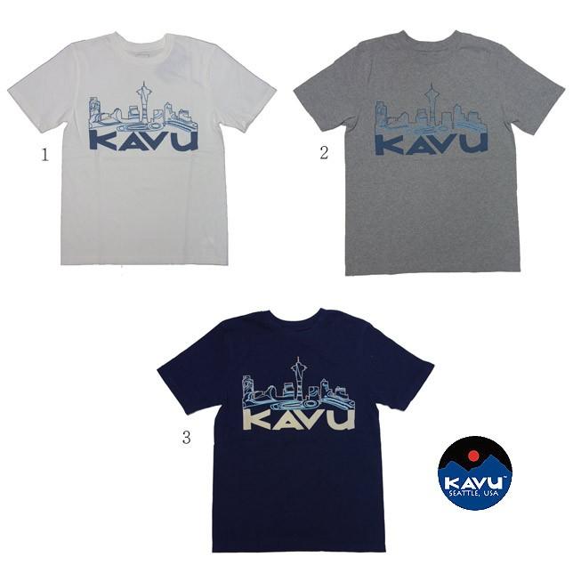 KAVU カブー トライバルシティT メンズ Tシャツ プリント ポケットTシャツ