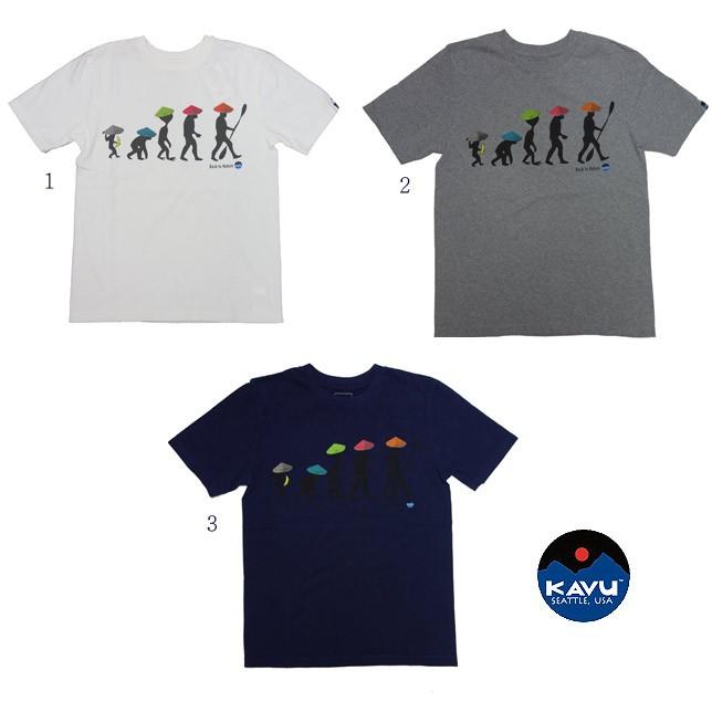 KAVU カブー バックトゥネイチャーT メンズ Tシャツ プリント Tシャツ