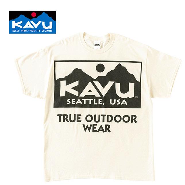 長崎県佐世保市大和町KAVU カブー メンズ ビッグロゴTシャツ BIGロゴ プリントT ナチュラル XL