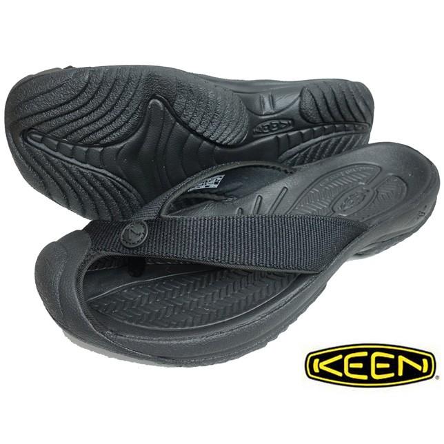 KEEN キーン メンズ ワイメア エイチツー Men's WAIMEA H2 TRIPLE BLACKBLACK トングサンダル ビーチサンダル