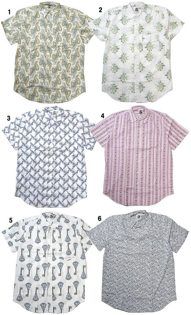 KENNINGTON ケニントン プリントシャツ 半袖 シャツ 総柄 シャツ レギュラーカラーシャツ メンズ