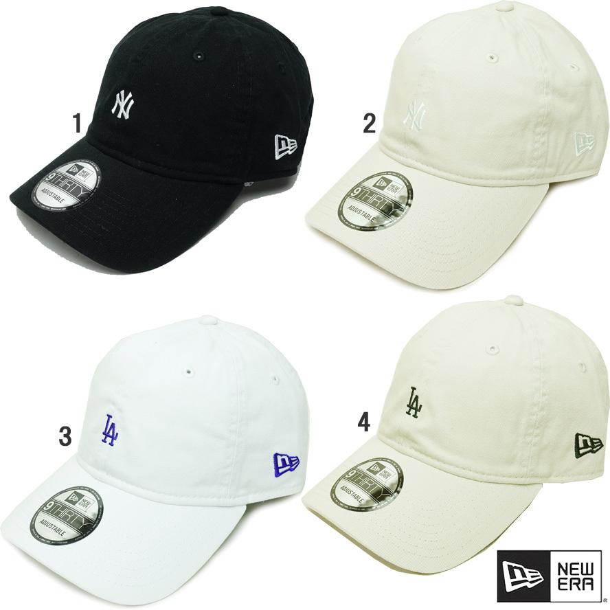 ニューエラ メンズ キャップ 9THIRTY ウォッシュドコットン ミニロゴ CAP NY LA newera 930 CAP