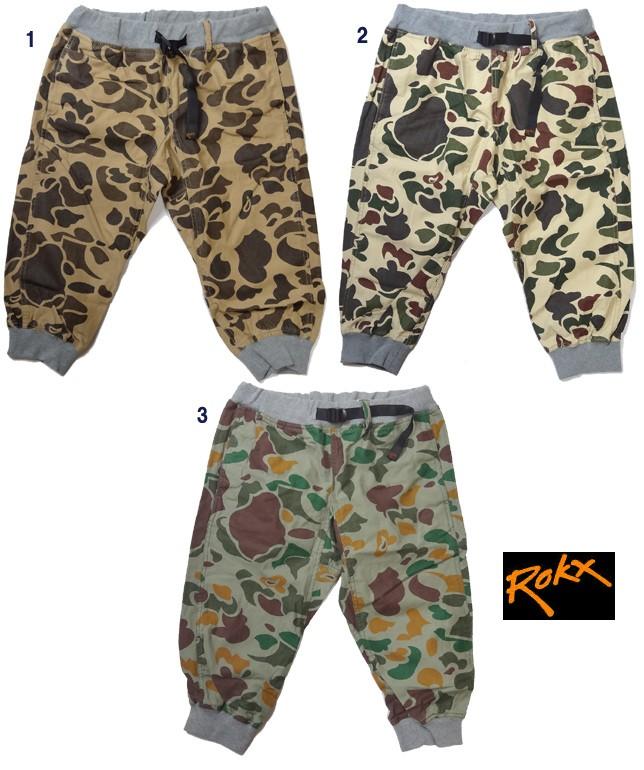 ROKX ロックス COTTONWOOD DK CAMOUFLAGE CROPS  コットンウッド クロップ 迷彩柄 カモ 7分丈 ショート パンツ