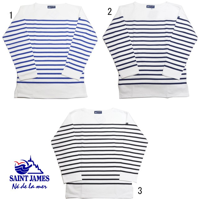 SAINT JAMES NAVAL セントジェームス ナバル ナヴァル ボーダーロンT ボーダー バスクシャツ 長袖 メンズ レディース