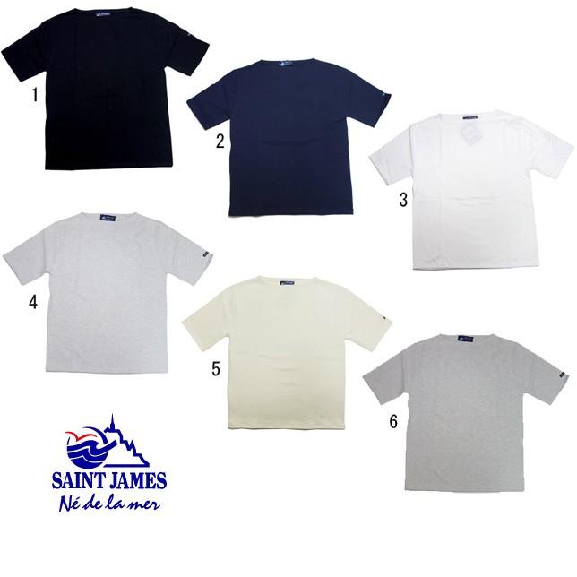 SAINT JAMES セントジェームス ウエッソン 半袖 無地 バスクシャツ メンズ レディース