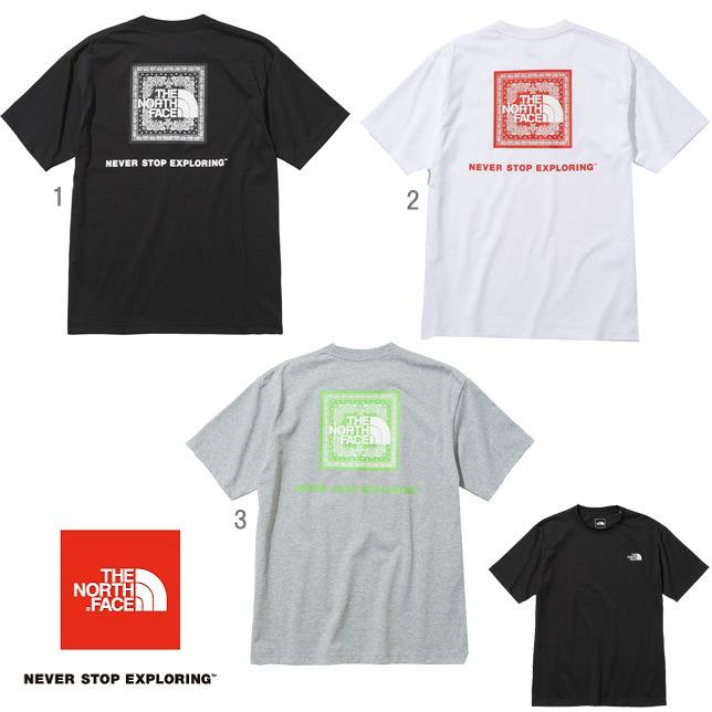 長崎県佐世保市ノースフェイス THE NORTH FACE Tシャツ ショートスリーブバンダナスクエアロゴティー メンズ NT32108