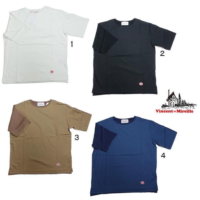 VINCENT ET MIREILLE ヴァンソン エ ミレイユ COMBINATION 5/S コンビネーション 半袖 Tシャツ カットソー デザインTシャツ