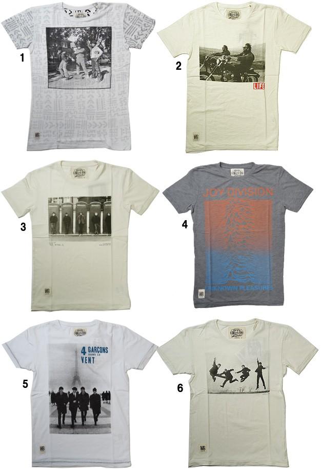 WORN  BY  ウォーン バイ 半袖 プリントTシャツ メンズ ロックT バンドT