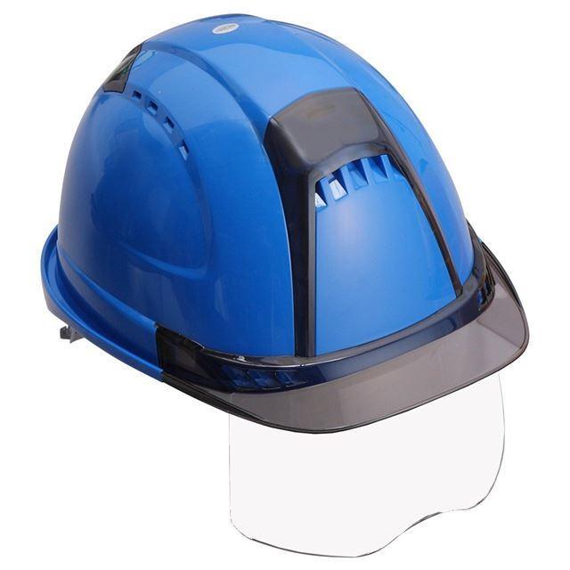 トーヨーセーフティー No.391F ワイドシールド面付き 作業用 ヘルメット Venti plus(通気孔付き/ライナー入り)/ 安全 工事 建設 建築 現場 高所 保護帽|proshophamada|24