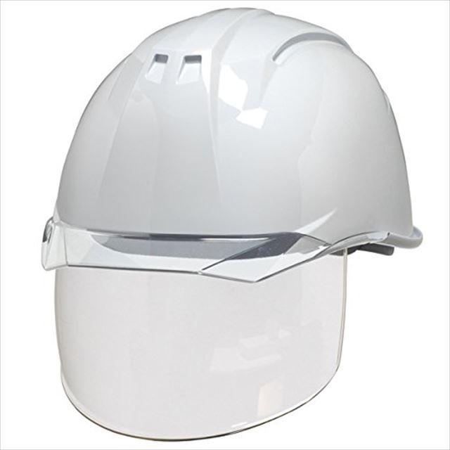 DIC AA11EVO-CS ワイドシールド面付き 作業用 ヘルメット(通気孔なし/ライナー入り)/ 工事用 建設用 建築用 現場用 高所用 安全 保護帽 電気設備工事対応|proshophamada|09