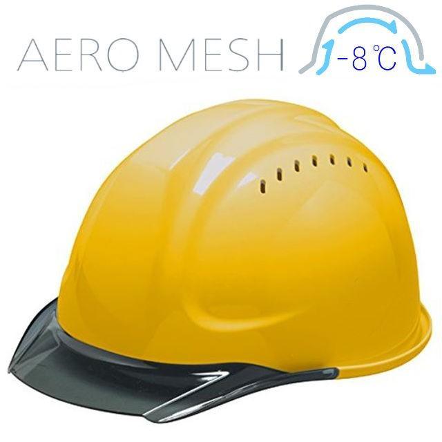 DIC SYA-CVM エアロメッシュ 涼しい 透明ひさし 作業用ヘルメット(通気孔付き/エアロメッシュ)/ 工事用 作業用 建設用 建築用 現場用 高所用 安全 保護帽 proshophamada 16