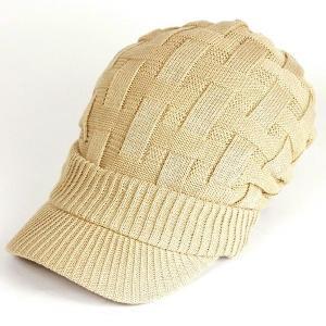 帽子 レディース 春 キャスケット 春夏 メンズ 大きい ニット帽 つば付きニット帽 夏 40代 大きめ コットン クロス編み 送料無料 母の日 ギフト|protocol|15