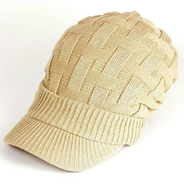 キャスケット 夏 メンズ 帽子 レディース ニット帽 つば付きニット帽 コットン クロス編み 送料無料|protocol|15