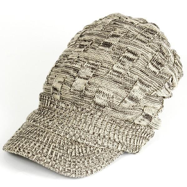 キャスケット 夏 メンズ 帽子 レディース ニット帽 つば付きニット帽 コットン クロス編み 送料無料|protocol|16