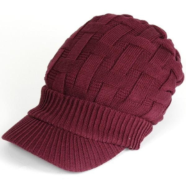 キャスケット 夏 メンズ 帽子 レディース ニット帽 つば付きニット帽 コットン クロス編み 送料無料|protocol|24