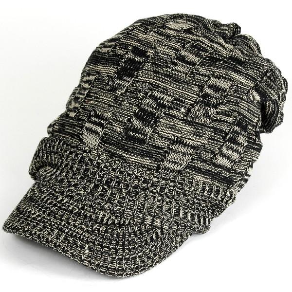キャスケット 夏 メンズ 帽子 レディース ニット帽 つば付きニット帽 コットン クロス編み 送料無料|protocol|18