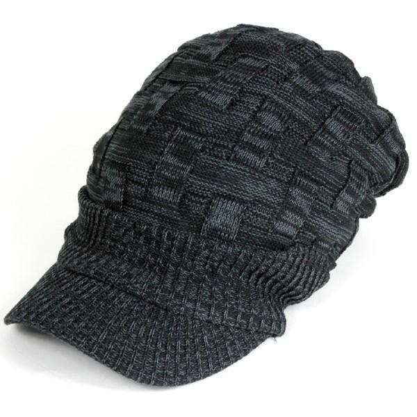 キャスケット 夏 メンズ 帽子 レディース ニット帽 つば付きニット帽 コットン クロス編み 送料無料|protocol|19