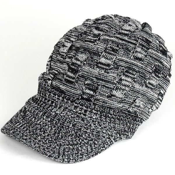 キャスケット 夏 メンズ 帽子 レディース ニット帽 つば付きニット帽 コットン クロス編み 送料無料|protocol|20
