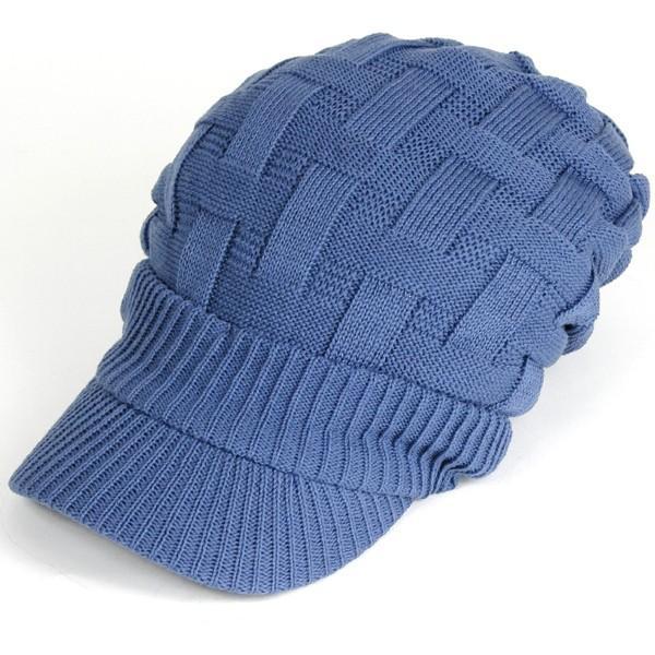 キャスケット 夏 メンズ 帽子 レディース ニット帽 つば付きニット帽 コットン クロス編み 送料無料|protocol|21