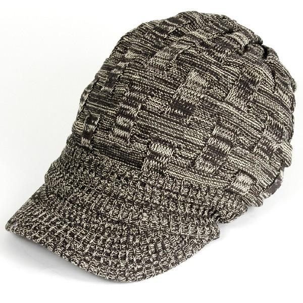 キャスケット 夏 メンズ 帽子 レディース ニット帽 つば付きニット帽 コットン クロス編み 送料無料|protocol|23