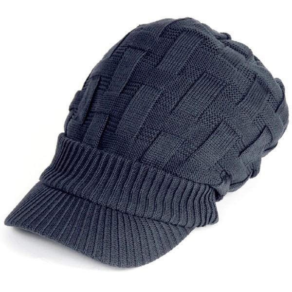 キャスケット 夏 メンズ 帽子 レディース ニット帽 つば付きニット帽 コットン クロス編み 送料無料|protocol|25