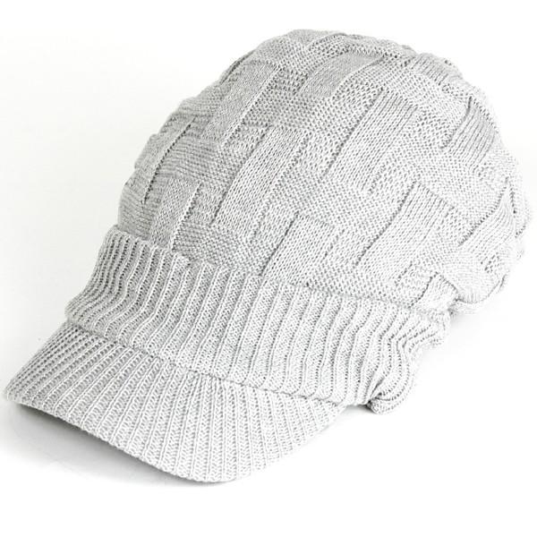 キャスケット 夏 メンズ 帽子 レディース ニット帽 つば付きニット帽 コットン クロス編み 送料無料|protocol|26